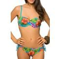 Maillot de Bain Femme 2 Pièces Bikini Bandeau Strass bleu
