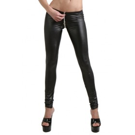 Pantalon slim fit avec zip-Rouge