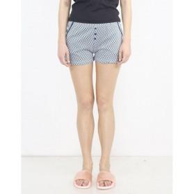 Short pyjama imprimé avec boutons 100% Coton-Triangle