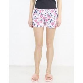 Short pyjama  imprimé avec boutons 100% Coton-Fleur