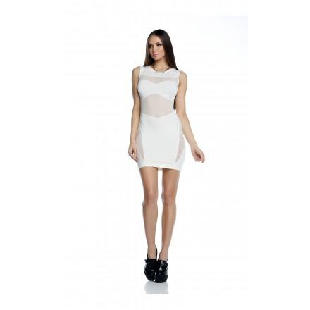 Robe Courte TYLER Sexy - Blanc