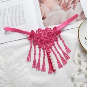 String sexy avec perles-Pink
