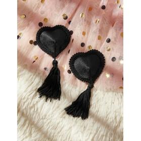 1 paire Cache-tétons design cœur à franges
