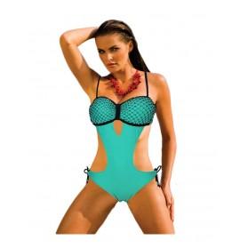 Trikini avec armature et strass - Vert