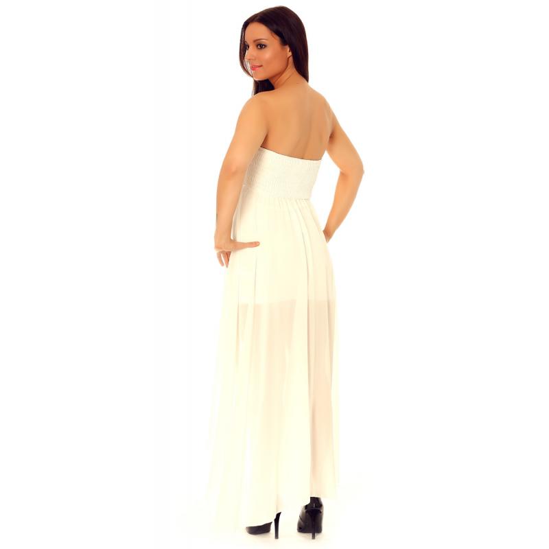 Robe en voilage blanche